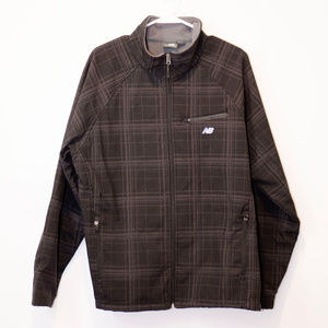 New Balance Men's Plaid Softshell Bonded Jacket LG